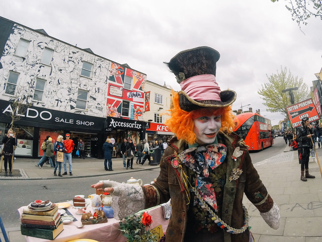 Adults Only Alice In Wonderland Camden Town Day Great Britain London London Lifestyle LONDON❤ Mad Hatter Mad Hatter Tea Party My Year My View One Person People Red Hair Red Head Sky Traditional Clothing
