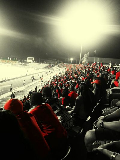 Crowd Fan - Enthusiast Large Group Of People Stadium Spectator Match - Sport People Sports Event  Sport Soccer Sports Team KWS Photography Trinidad's Photography PhonePhotography Trinidad Trinidad And Tobago 2017 Edit Football Red Black White Blackandwhite