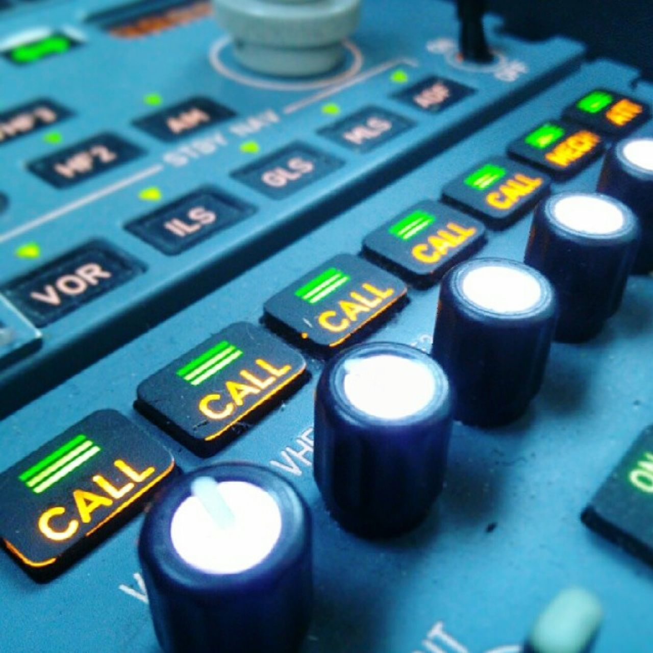 Aircraft panel close-up Control Close-up Keypad No People Communication Indoors  Aircraft Aircraft Photography