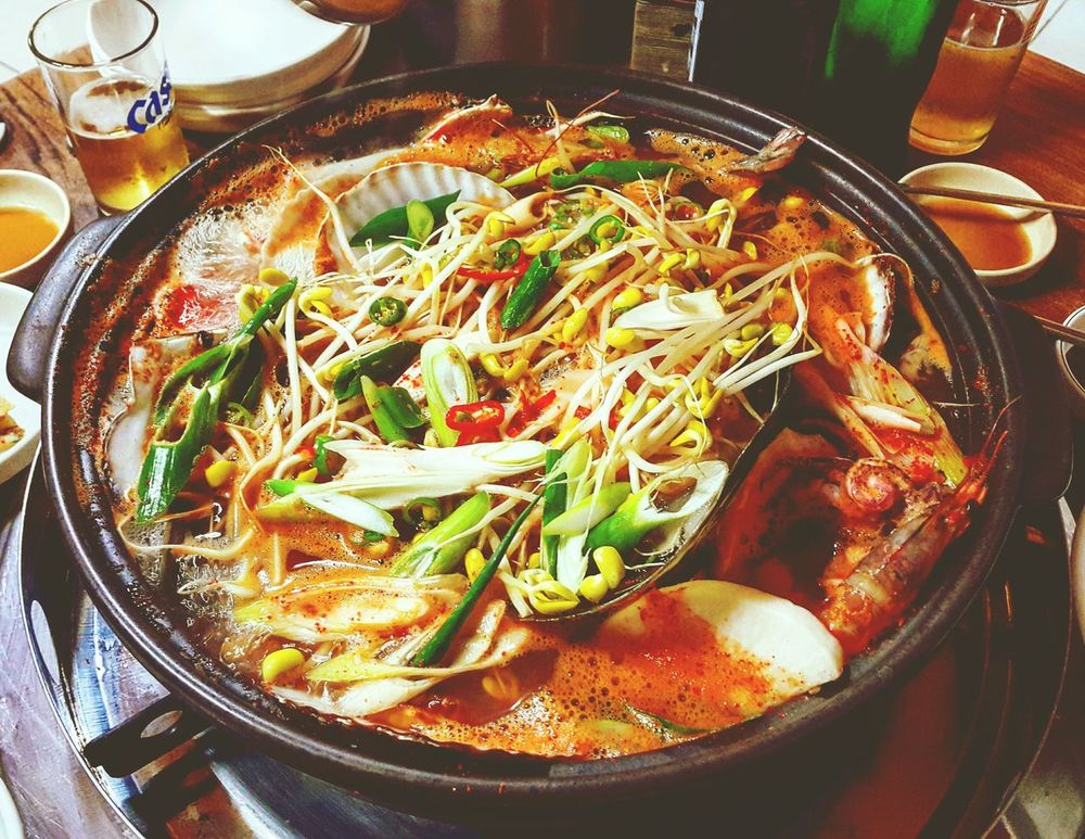 Food Koreanfood KoreanFoods Seafoods Seafood Soup Spicy Seafood Stew Stew Korea Asian Foods Lol :) Yummy Hello World Check This Out Southkorea Visit Korea