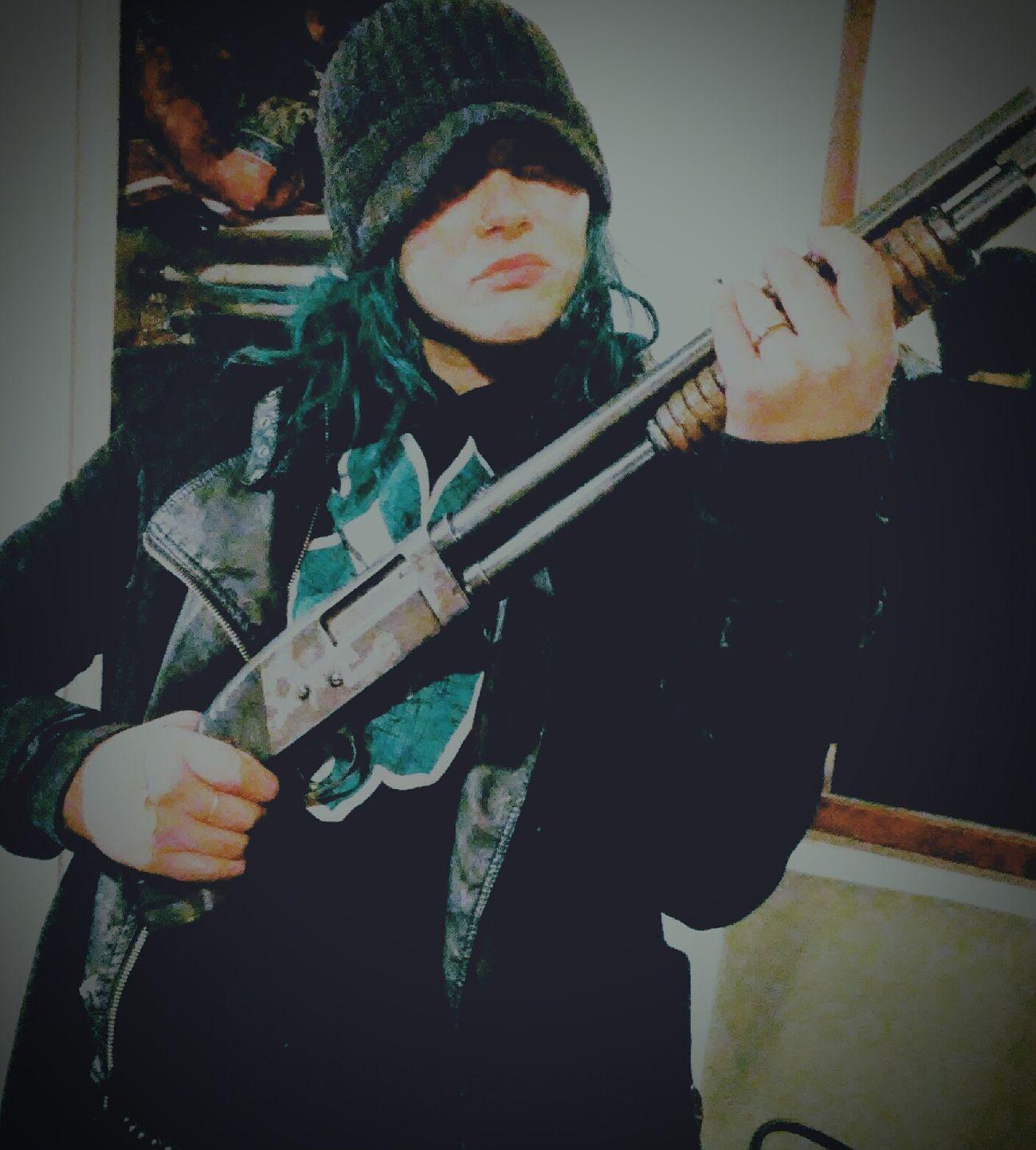 Armed Forces Shotgun!!! Zombieapocalypse Jungle Shoot Seattle Jungle Big Gun Sawed Off Firealarm Anarchy girls & guns