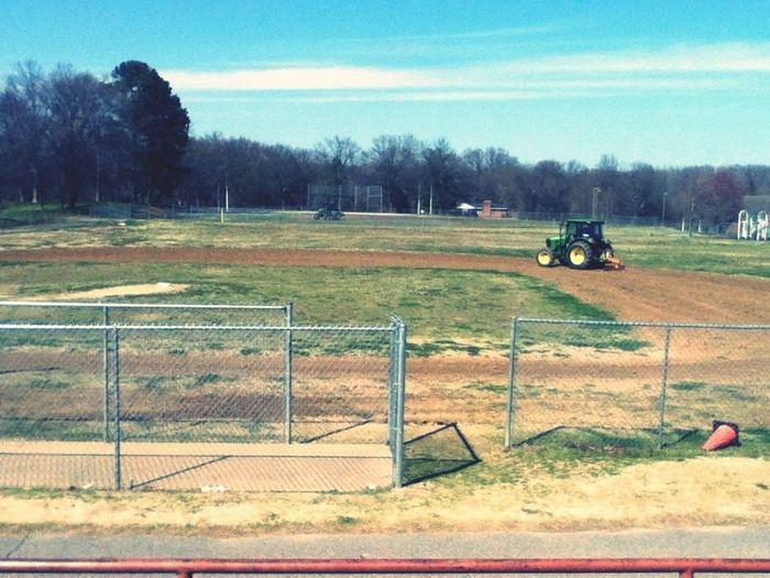 Getting The Baseball Field Ready ! :)
