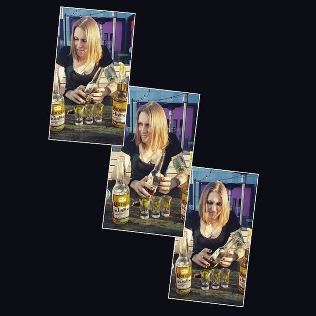 hung out w @russianprincess7 and had a fun day Pinktaco Friends Mexicanfood Beverlyhills La Candid Laughter Slideshow Tattooedchicks Tattoo Transgender Tgirl Transwoman Day275 Hrt Beer Tequila Lime Corona Sun Bright