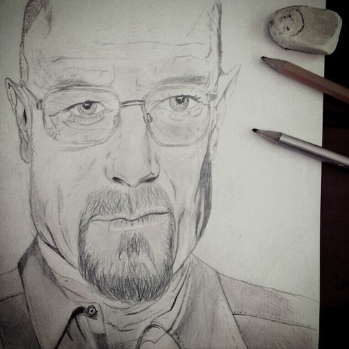 Drawing Draw Walter White Breackingbad