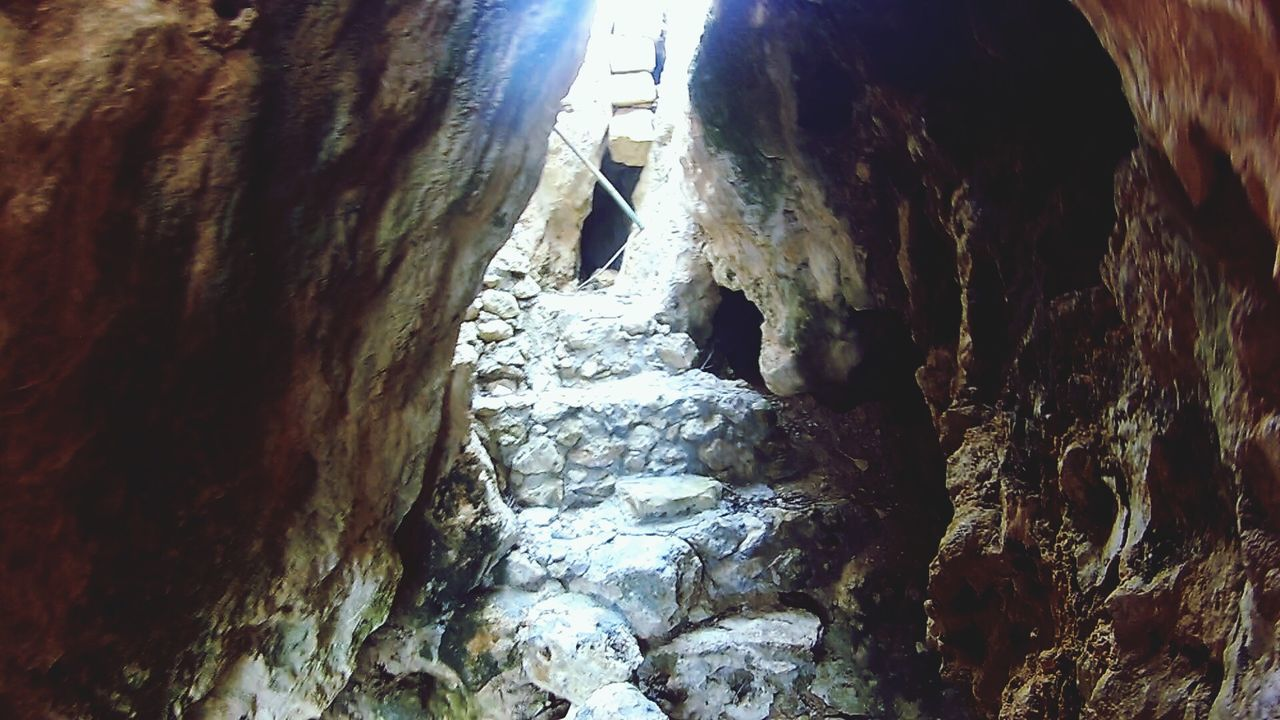 The Secret Spaces Calypso's Cave in Gozo Island. It's not really allowed to get inside nowadays... Gozo Island, Malta - April 2017 Legends Calypso Odysseus Cave