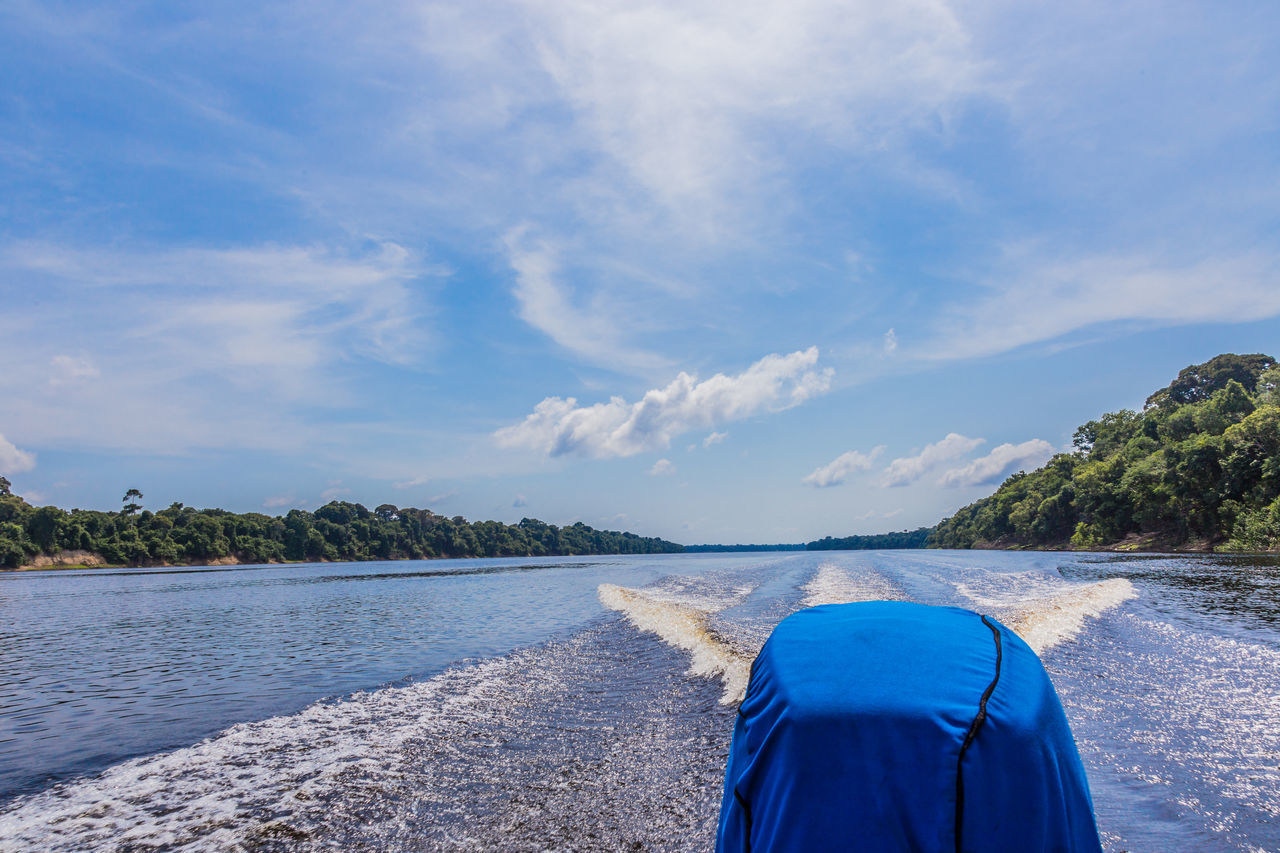Beauty In Nature Boat Trip In Anavilhanas Archipelago - Amazon Forest Nature Outdoors Scenics Sky Tree Water