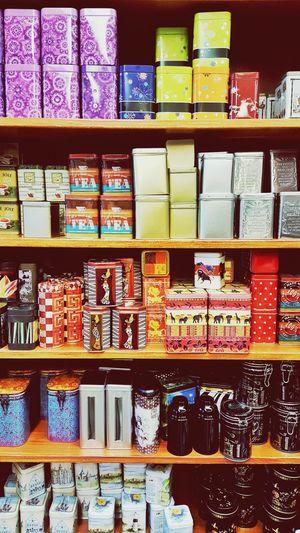 Shelf Variation Choice Large Group Of Objects Store Retail  For Sale Indoors  Arrangement Abundance Multi Colored No People Merchandise Day Jar Jars  Tinjars Shop Teajar Teashop
