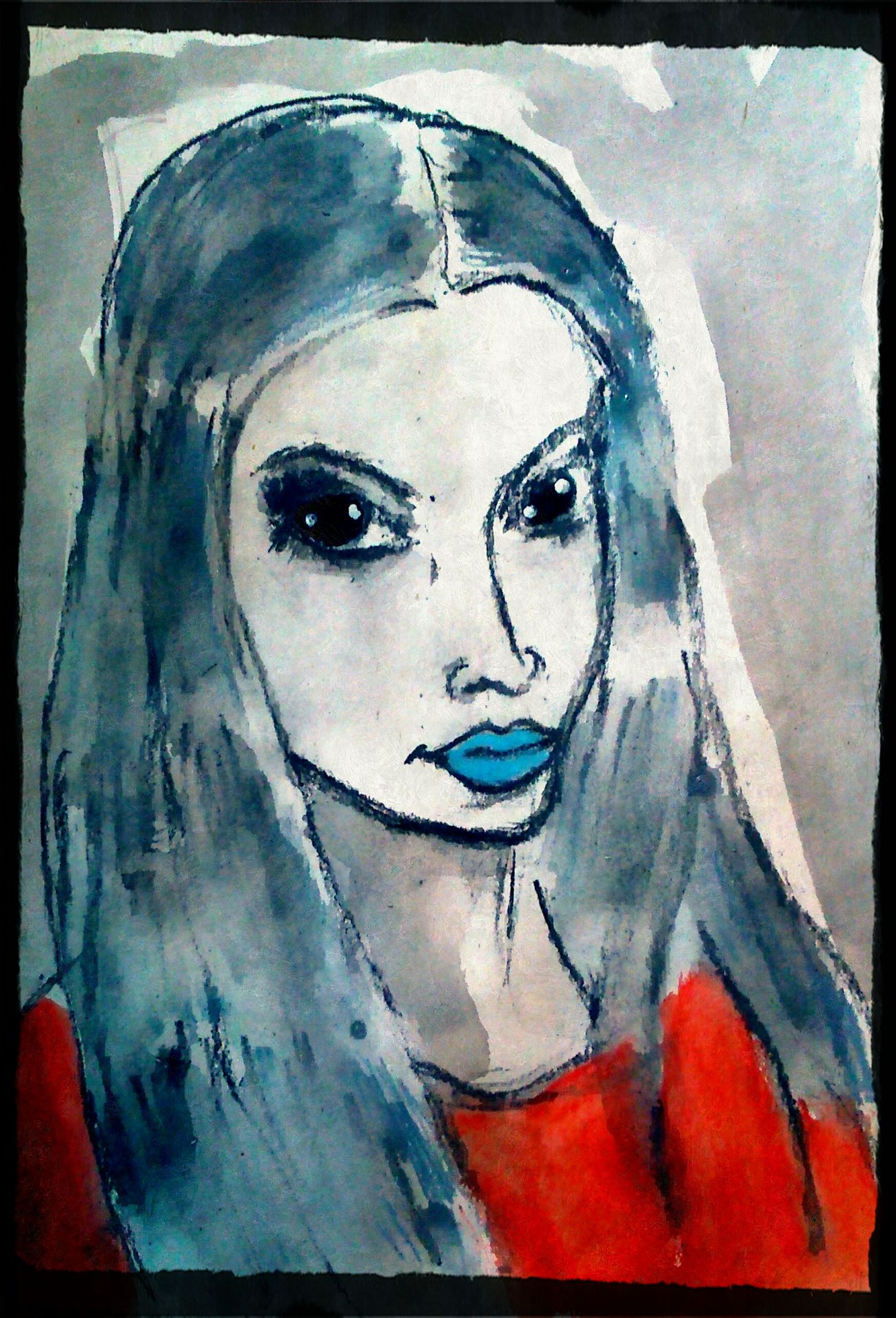Portrait One Person One Young Woman Only Art And Craft Sketch Human Representation Artistic Myartwork Drawing - Art Product