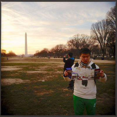 Tourists at The National Mall by Matt McLoone