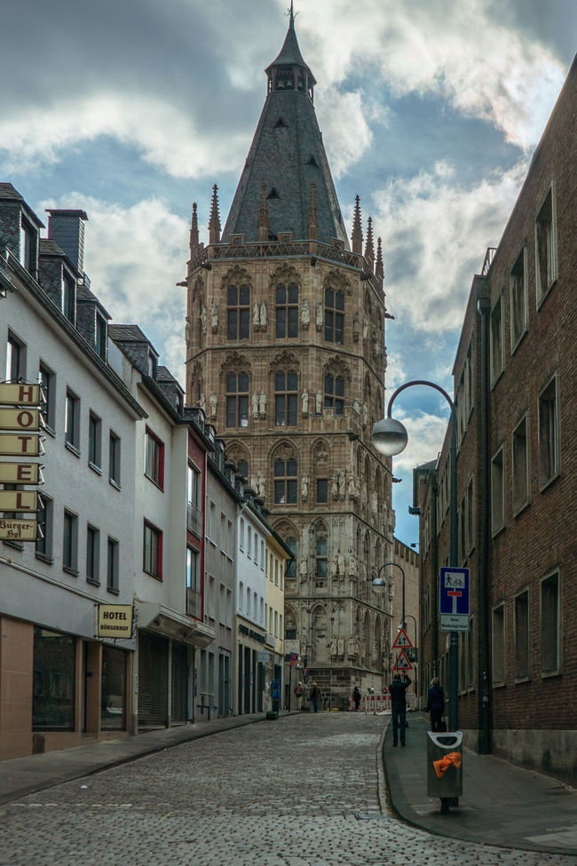 Architecture Building Exterior Built Structure City Cloud - Sky Cologne Day Germany Historical Building Köln No People Outdoors Sky Sonyalpha Street Streetphotography Tower Travel Destinations Vertical