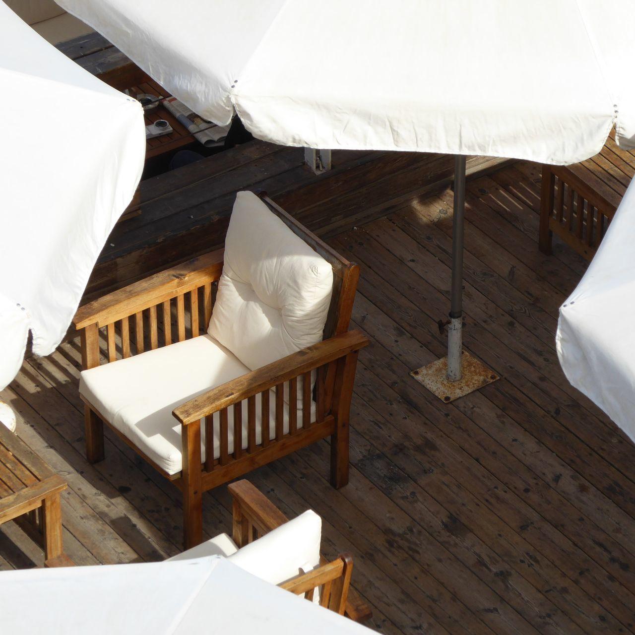 Outdoor Restaurant Parasol Chair Wood