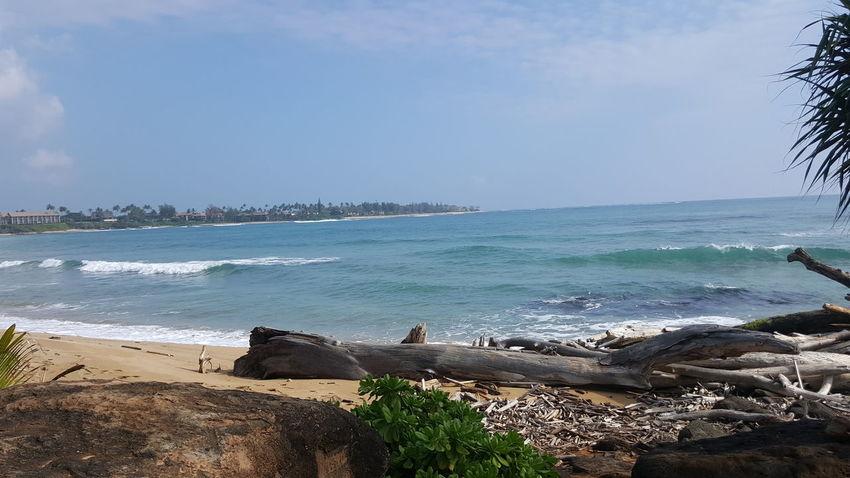 Beach Wave Horizon Over Water Sky Outdoors Kauai Life Lydgate Beach Sand And Sea Oceanview