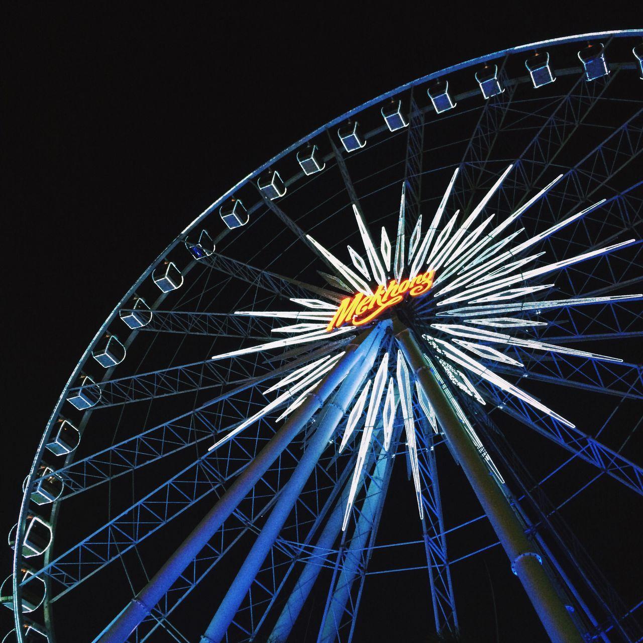 High Roller Ferris Wheel Night Meakhong Blue Light Lamp Neon Neon Lights Neon Sign