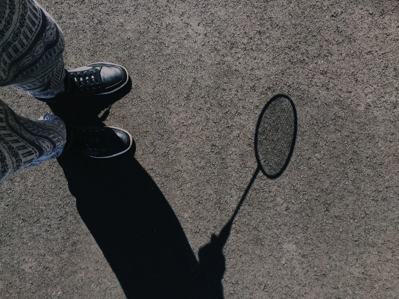 Beautiful stock photos of legs, Badminton Racket, Day, High Angle View, Human Body Part
