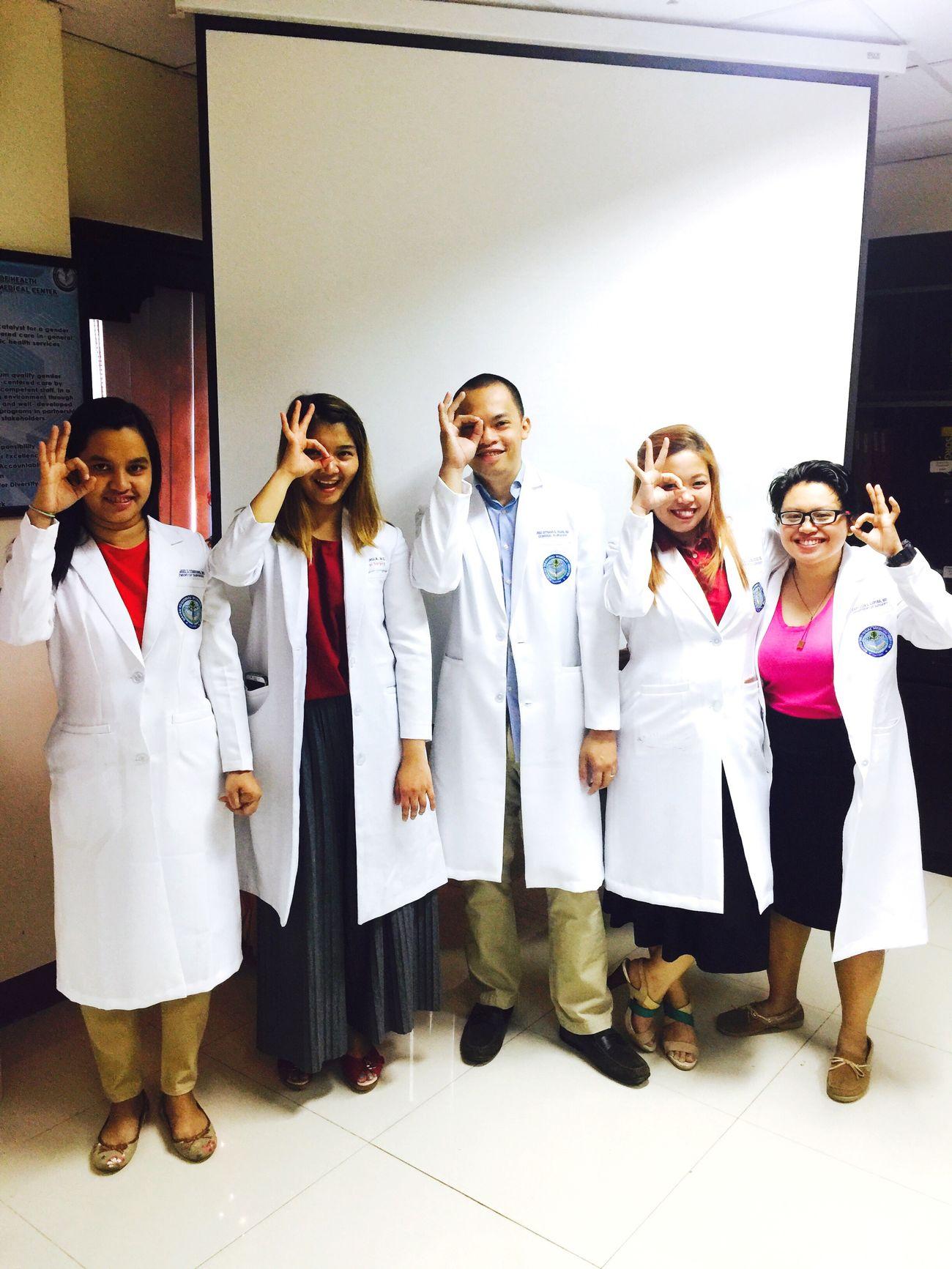 Group 3 be like.. Surgeons Medicine Residency Training DRMC Knife Blades Lab Coat White Coat Photoshoot