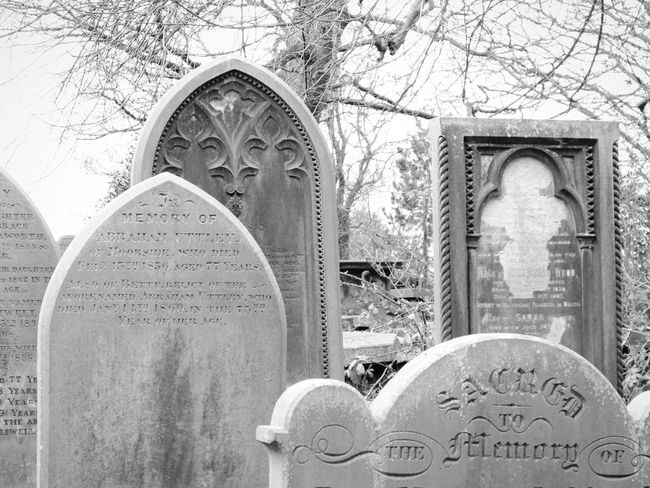 Graves Gravestones Stone Headstones Black And White Black & White Black And White Collection  Monochrome Monochromatic Atmospheric Mood Atmospheric Trees Trees And Sky Nature Landscape Graveyard Beauty Graveyard Haworth Bronte Sisters Bronte Parsonage Bleak Life And Death Death Gothic Beauty