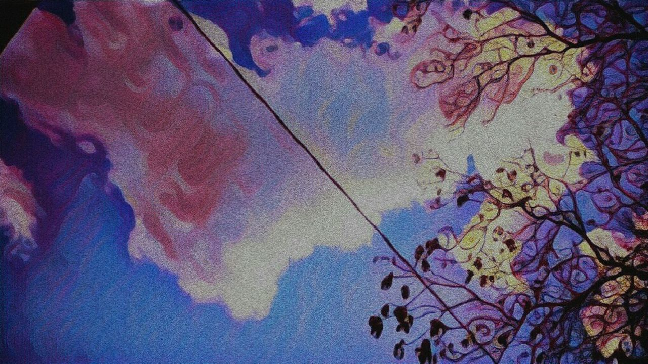 Cloud Pink Color Sky Tree Abstract Outdoors Nature Groovy Prisma Prisma Art LGV10 Lgv10photography