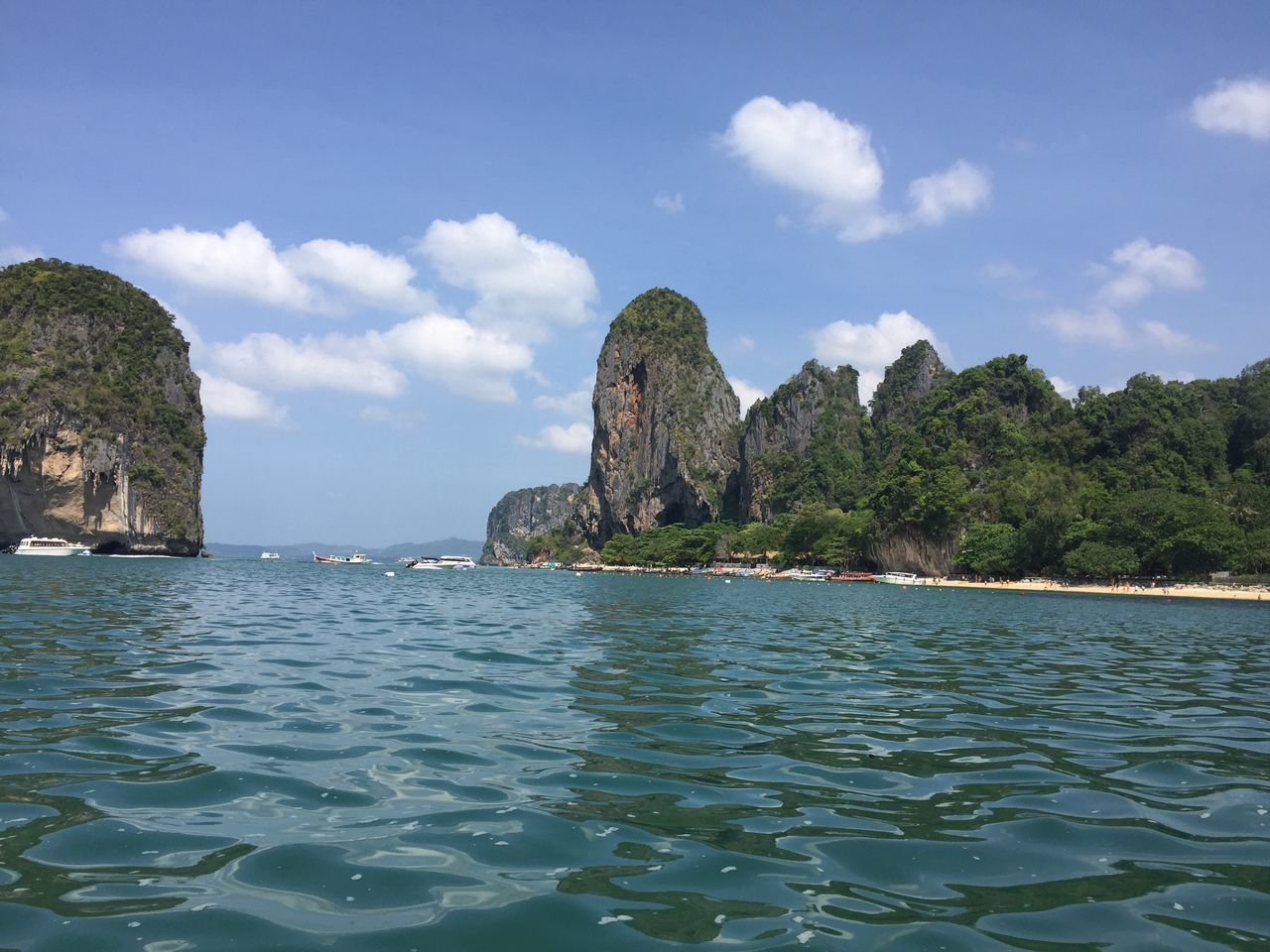 island by the sea in Krabi city of Thailand Beauty In Nature Beginnings Cliff Day Destiny Exploration Explore Happiness Hope Hopes And Dreams Inspiration Inspired Inspired By Nature Nature No People Outdoors Scenics Sea Sky Startup Tourism Tranquil Scene Tranquility Travel Destinations
