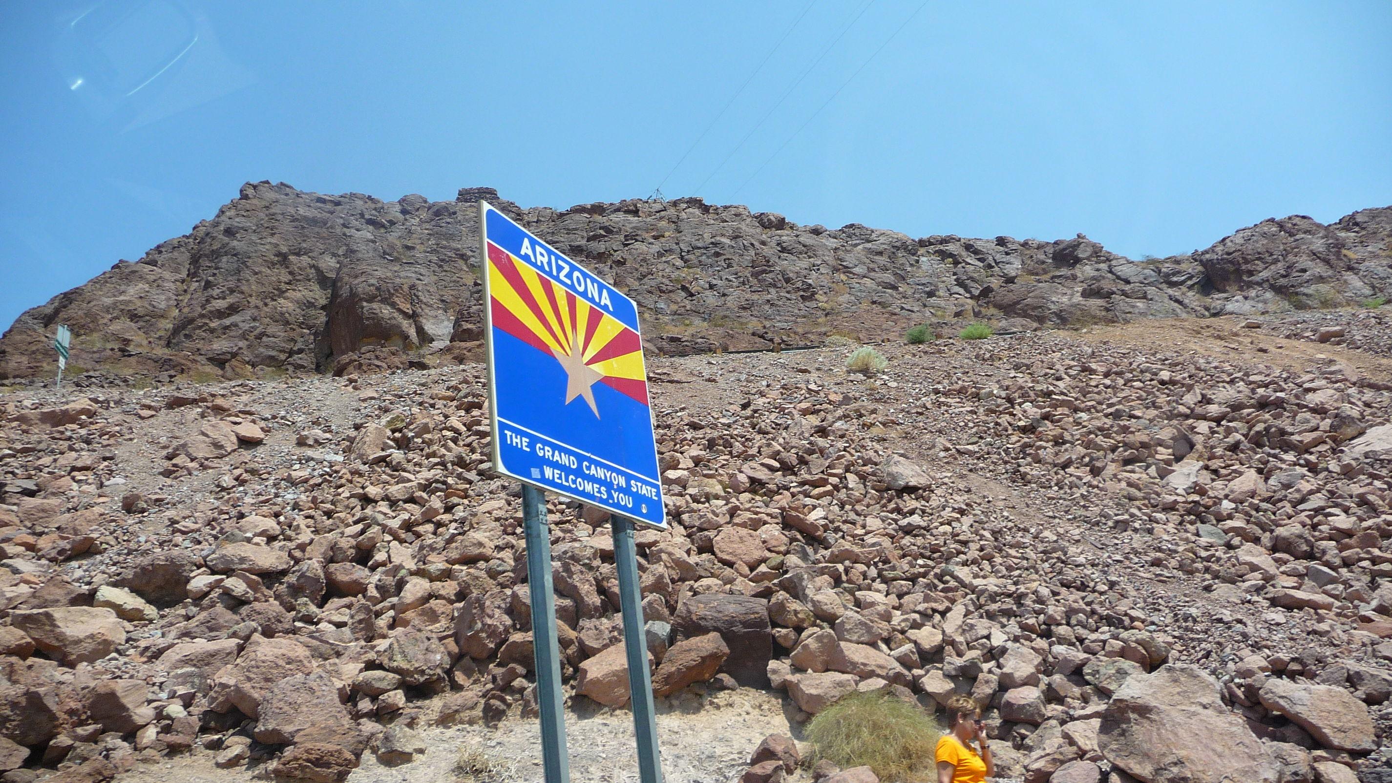 Arid Climate Arizona Arizona Sign Road Trip S