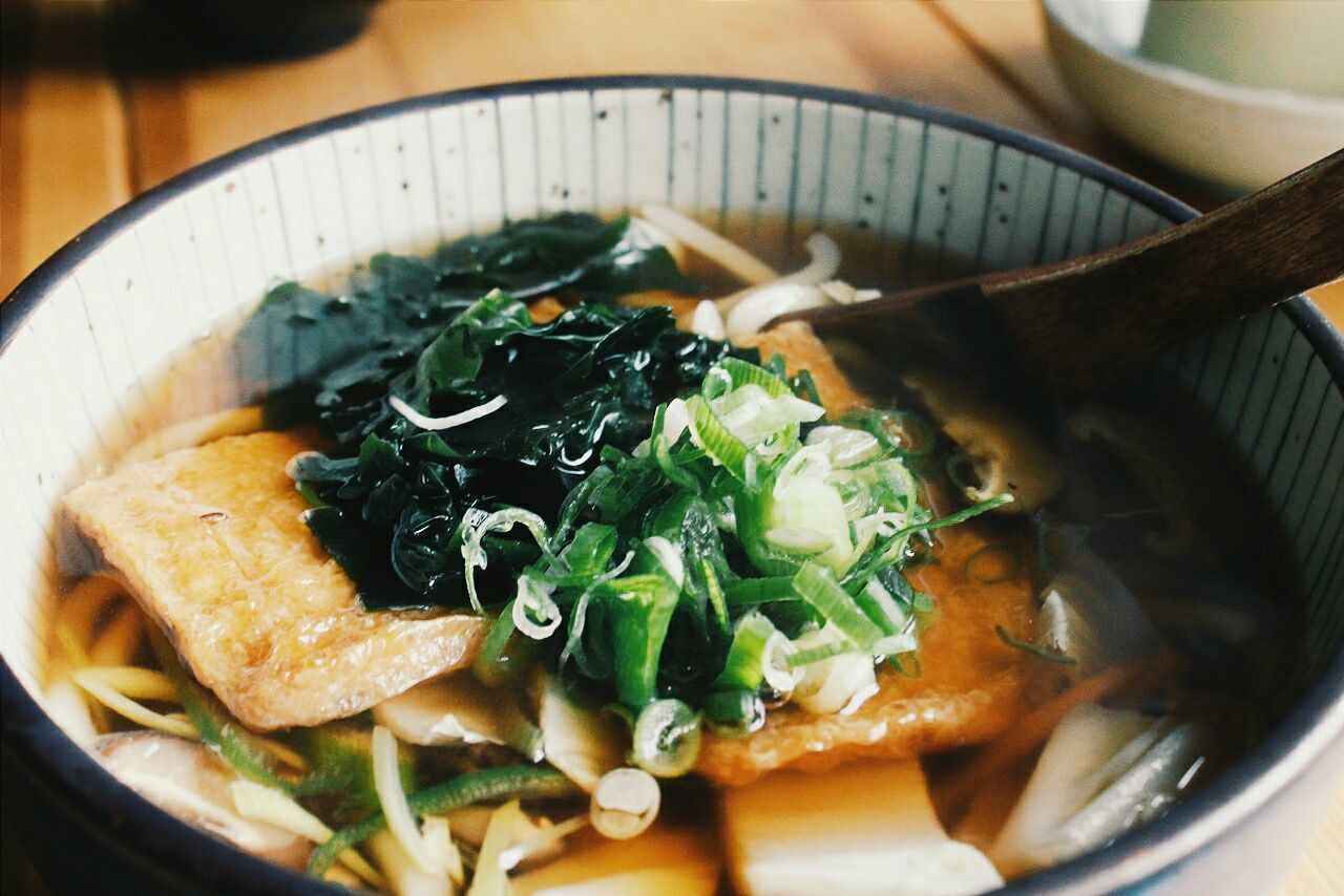 With a snowstorm happening outside, a good udon soup keeps us warm Whatsfordinner