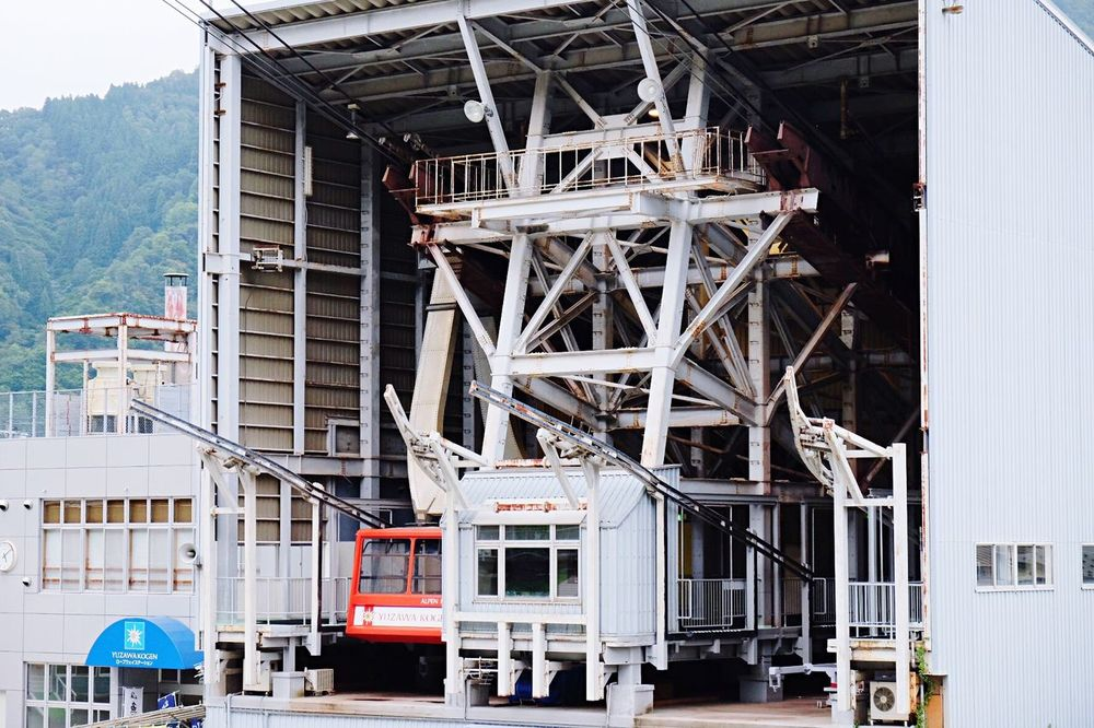Ropeway Architecture Built Structure Building Exterior Outdoors Tall - High No People Industrial Building  YUZAWA Niigata Japan