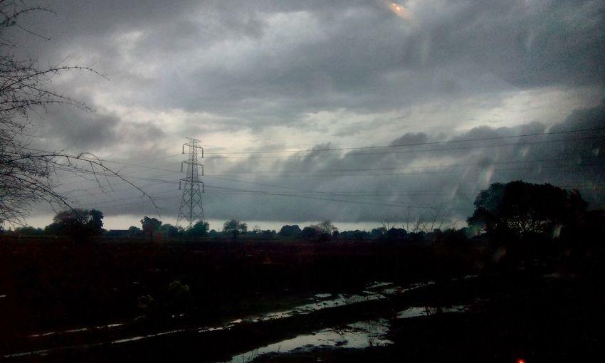 First Eyeem Photo PhonePhotography Monsoon Monsoon Season Clouds Heavy Rain Indore Indorediaries Madhyapradesh India Landscape