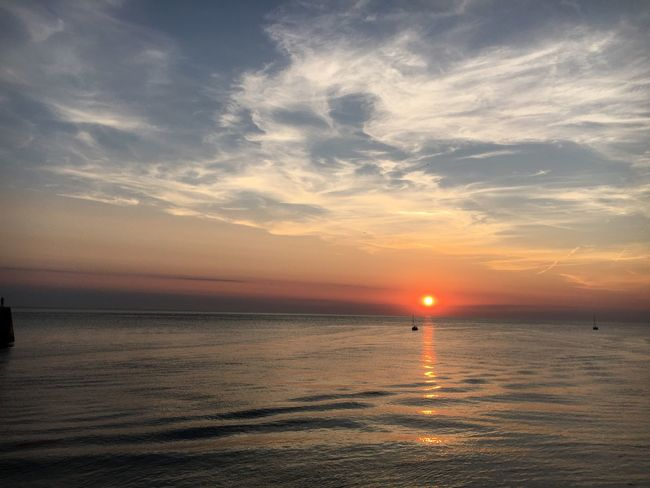 Aberystwyth sunset Sunset Water Sea Sky Scenics Beauty In Nature Tranquility Nature Tranquil Scene Sun Idyllic No People Horizon Over Water Outdoors Day