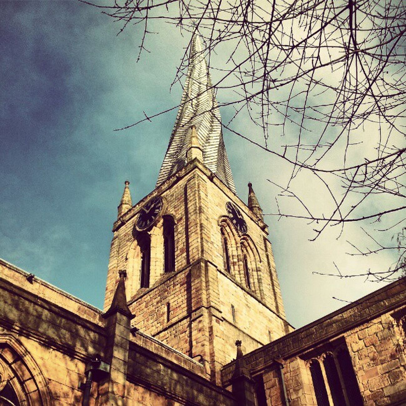 Crookedspire Churchifsaintmaryandallsaints Chesterfieldchurch Spire  spireites