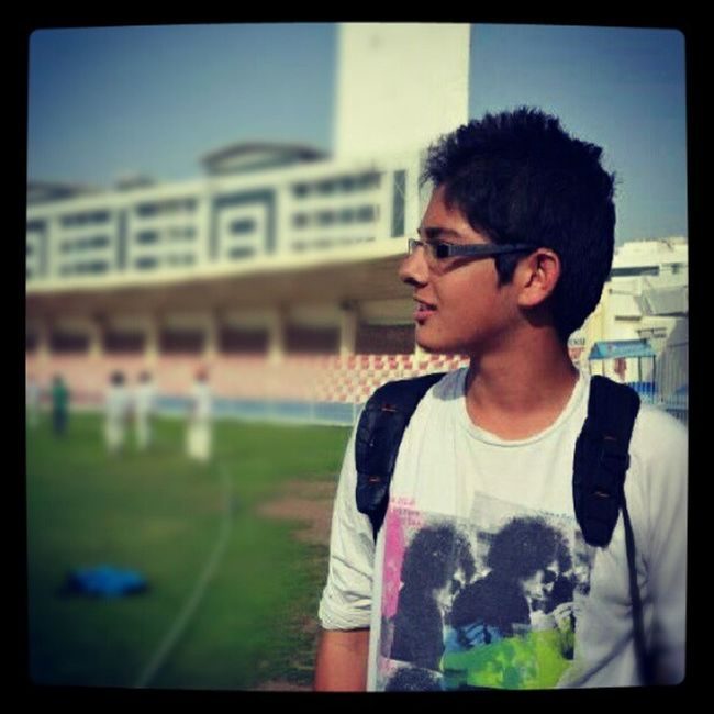 Very old picture - got to learn alot :) Maxtalent Visioncup Sharjahcricketstadium U17 bobdylan