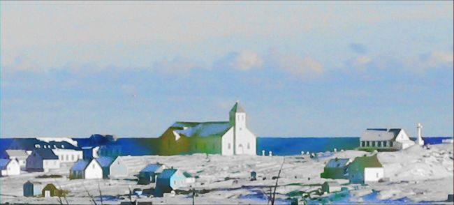 Saint Pierre Et Miquelon Snowy Landscape Snowy View