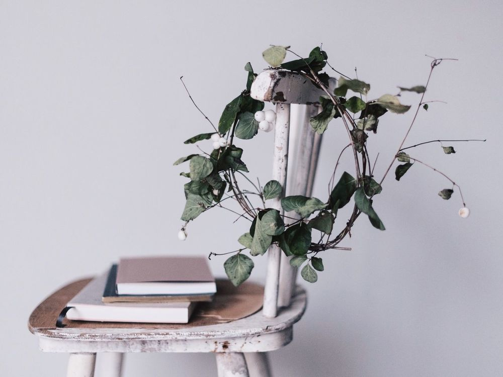 Nature Nature In The Home Wreath Vintage Chair Plant Autumn Autumn Mood StillLifePhotography Lifestyle Photography Fresh On Market 2016