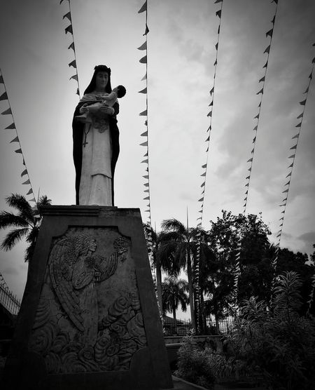 Saint Sta.RoseLaguna Statue Landmark Culture Monochrome Black And White Mobilephotography Mobile Photography HuaweiP9 Leicacamera Leicap9