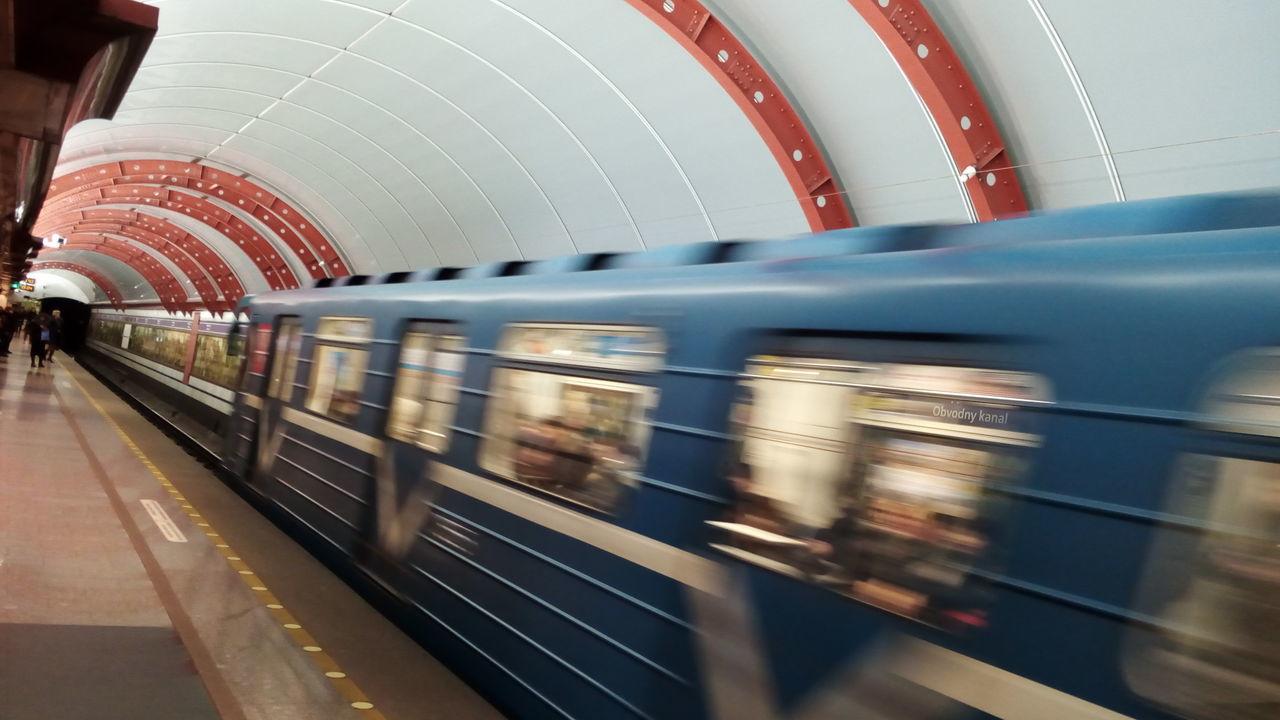 Transportation Train Underground Metro Obvodnoy Kanal Public Transportation Urban Skyline Subway Train Motion City Speed Colors Of Sankt-Peterburg Sankt-Petersburg Russia