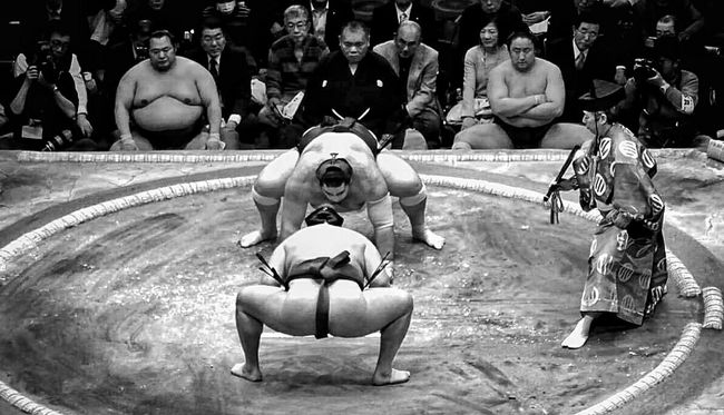 Sumo Fight Sumo Fighters Sumo Arena Fight Japan Tokyo Love Blackandwhite Photography Black & White Sport Photography by Danieledonofrio