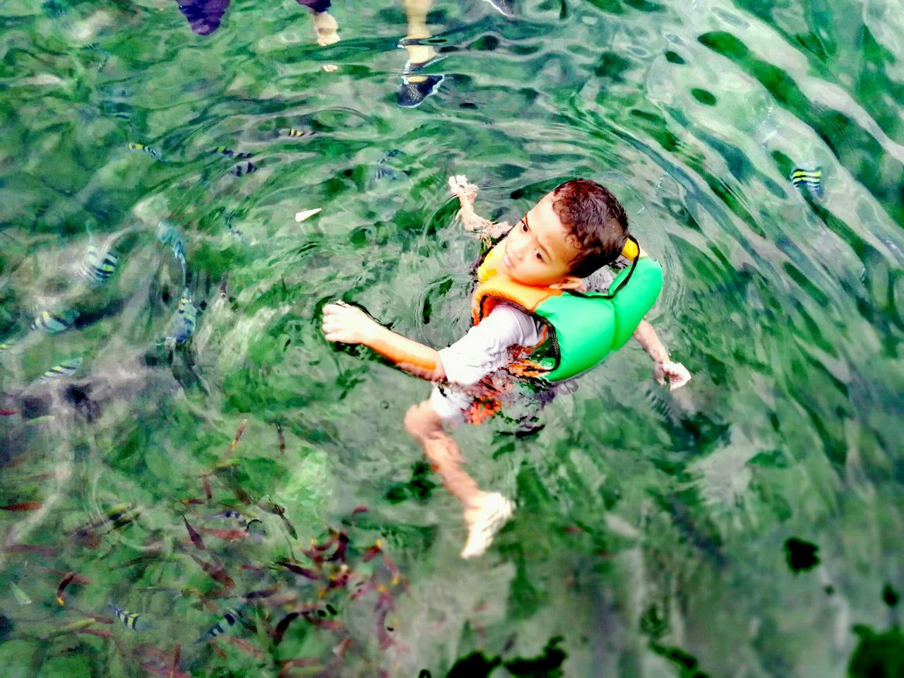 Floating at the Coral Island, Pulau Pangkor, Perak , Malaysia.Pangkor Island Malaysia Sea View Coral Fish Kids Having Fun Floating On Water Break The Mold EyeEmNewHere Clear Water Crystal Clear Waters The Great Outdoors - 2017 EyeEm Awards Neighborhood Map Live For The Story