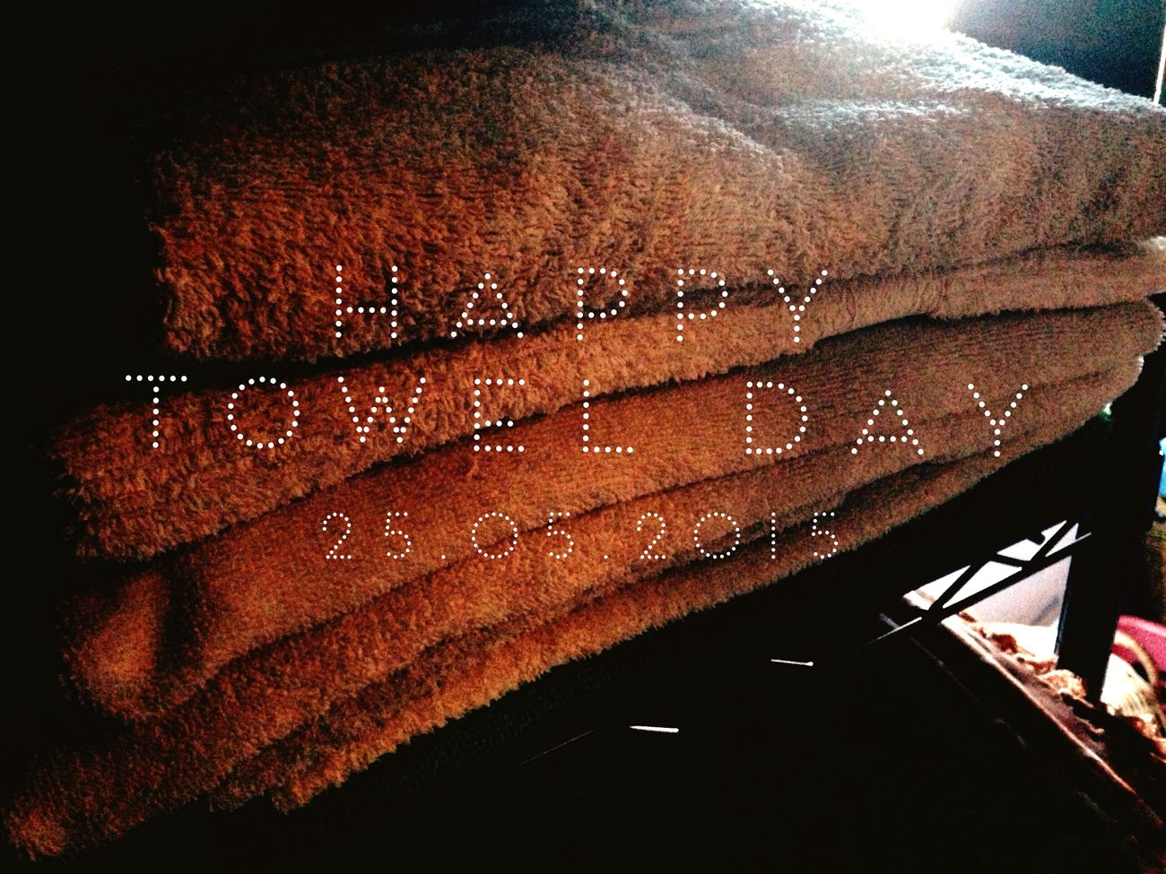 Happy Towel Day 2015 Towelday Happytowelday TheHitchhikersGuideToTheGalaxy Douglasadams
