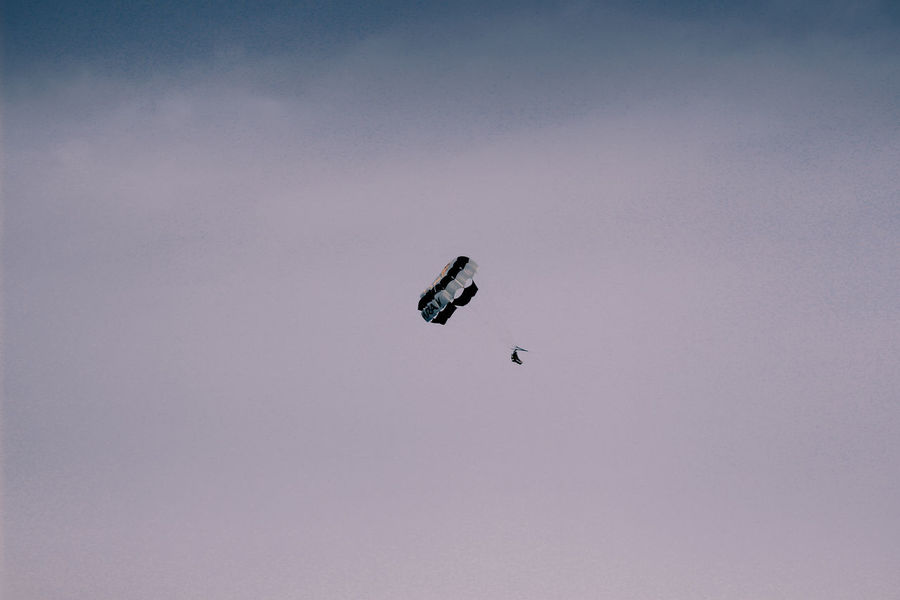 Adventure Adventure Club Adventures AMPt_community Day First Eyeem Photo Fly Flying Low Angle View Mid-air Minimal Minimalism Minimalobsession Nature No People Outdoors Parachute Paragliding Shootermag Sky Skyporn Sport Wanderlust