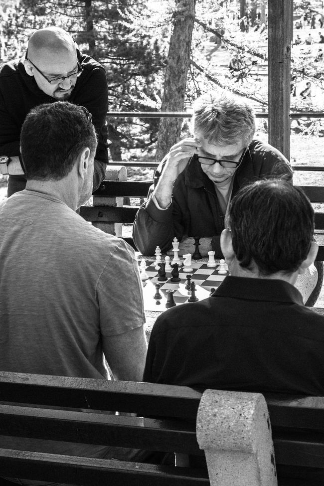 Chess in the park Chess Central Park New York New York City Concentration Men Blackandwhite Streetphotography Documentary Photography Togetherness Game Games Monochrome Photography