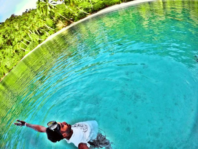 Hello World Swiming Goprohero4 That's Me Hanging Out Paradise Papuabarat Triton Kaimana Peace And Quiet
