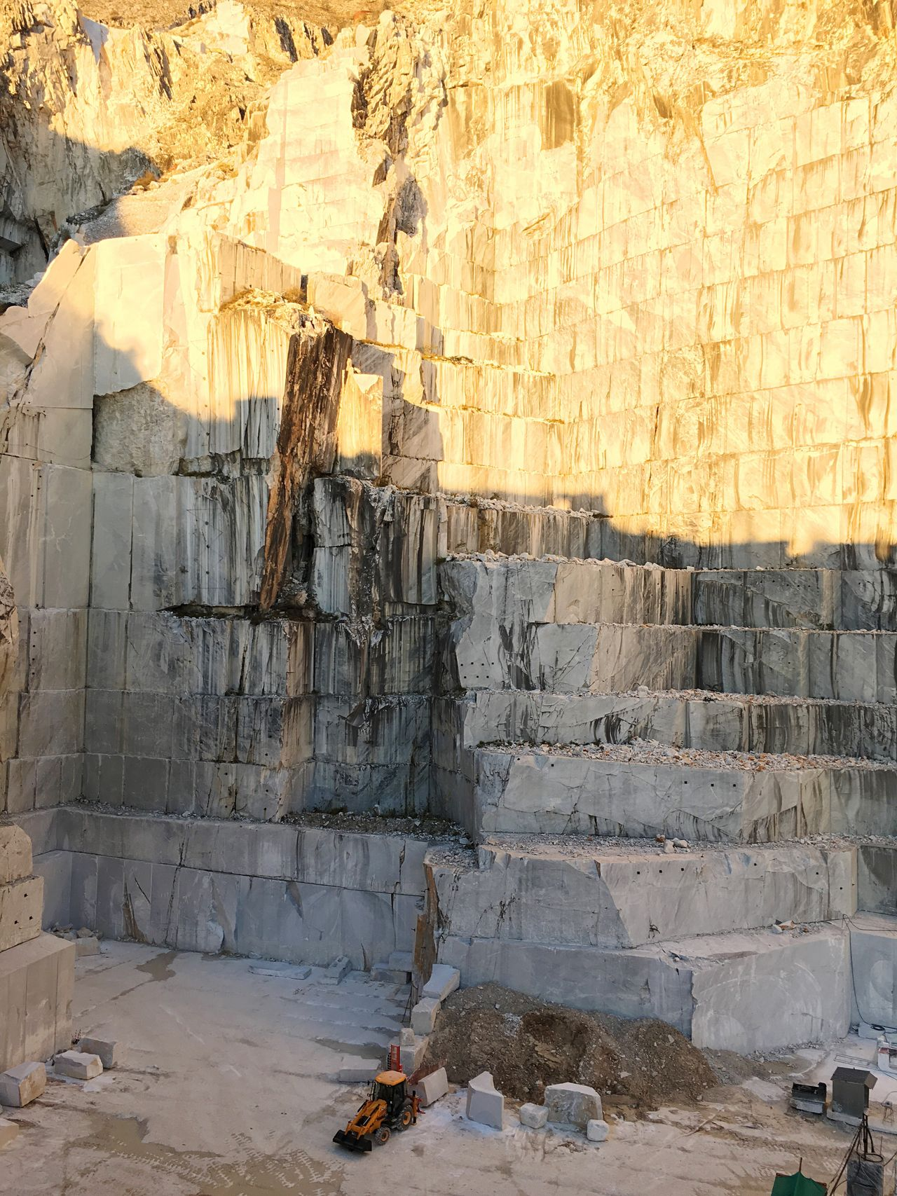 Marble quarry at sunset Built Structure Architecture Sculpture Quarry Marble EyeEmNewHere Sunset Sunlight Italy