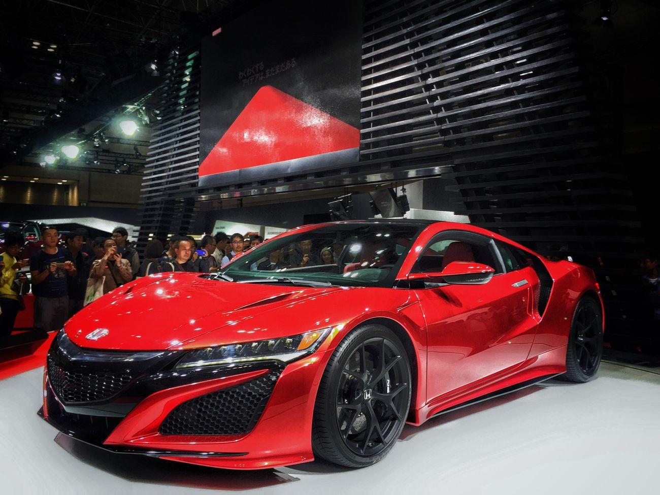 Pure red❤️ Tokyomotorshow2015 東京ビッグサイト Red Nsx Honda Sportscar Enjoying Life 大人の休日 Happytime EyeEmBestPics