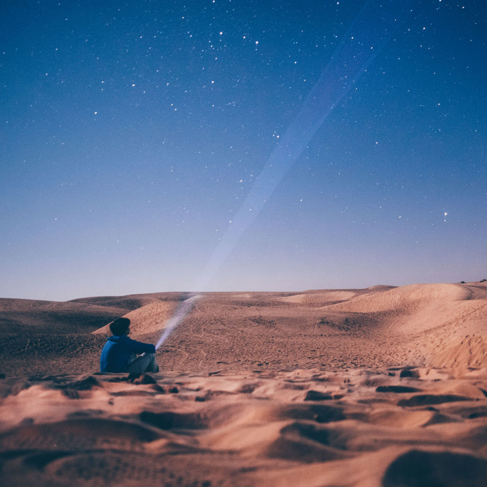 The diamonds of the night paved a way to her world again. Outdoors Sky Milky Way Stars Desert Sand Dune Explore