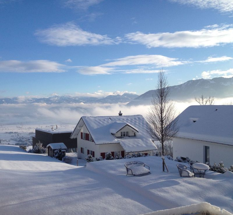 Good Morning Winterscapes Above The Fog