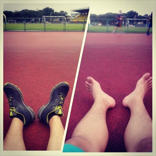 Nice weather for my Barefoot Running Jogging Sportcenter  fit workout shape