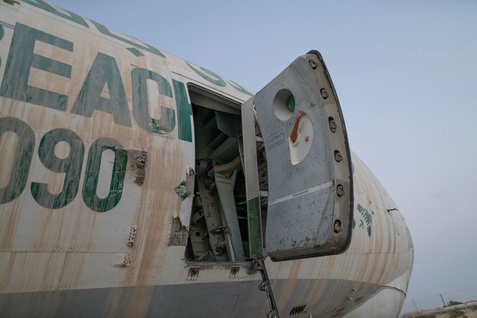 Low Angle View Outdoors No People Building Exterior Day Architecture Sky Weapon Close-up Plane Abandoned Abandoned Place Abandoned Plane