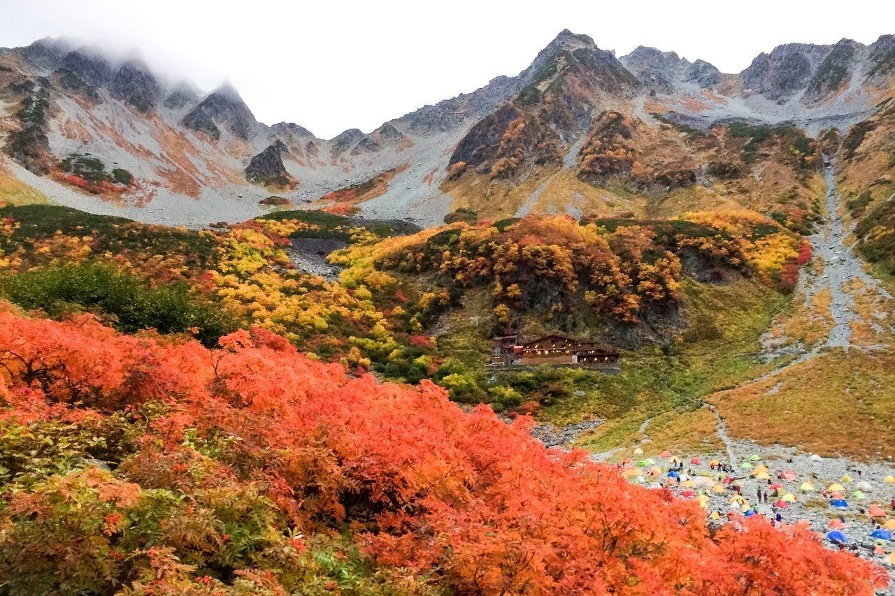 Scenic View Of Mount Hotaka