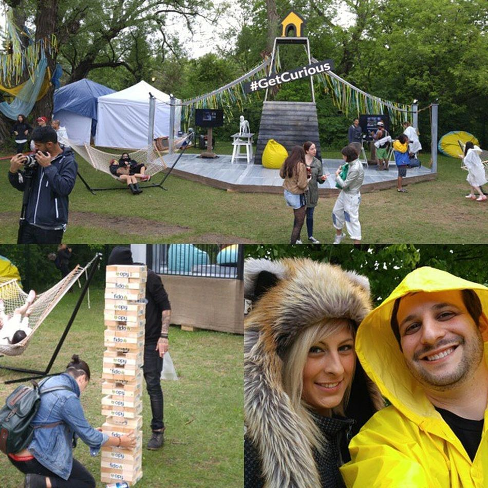 Had to GetCurious as a member of RogersSI at BestivalTO & check out the @fidomobile area. Giant Jenga! Hammocks! A Castle! Free Swag! So much awesome 😀