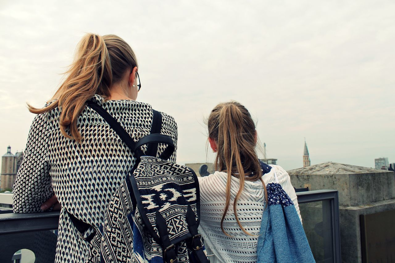 Beautiful stock photos of freundschaft, Architecture, Backpack, Black Color, Blond Hair