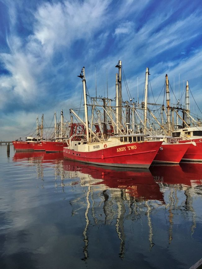 Boats Harbour Commercial Fishing Hampton,VA Chesapeake Bay Fishing Boat Reflections IPhoneography