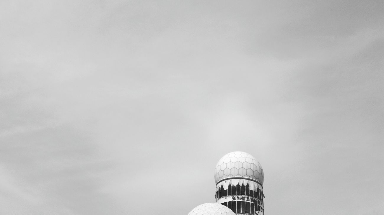 Teufelsberg Teufelsbergberlin Abhörstation Teufelsberg Abhörstation NSA Black And White Black And White Collection  Black And White Photography Grunewald Cold War Relic Monitoring Station Sky